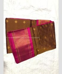 Cream colour with Royal Blue Border kuppadam pattu handloom saree with kanchi boarder in rich and vibrant colours design