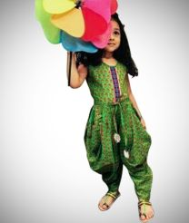 Different style dhothi dress for girl