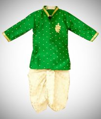 Green color dhoti