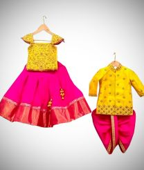 Pair of dhoti and different style langha jacket